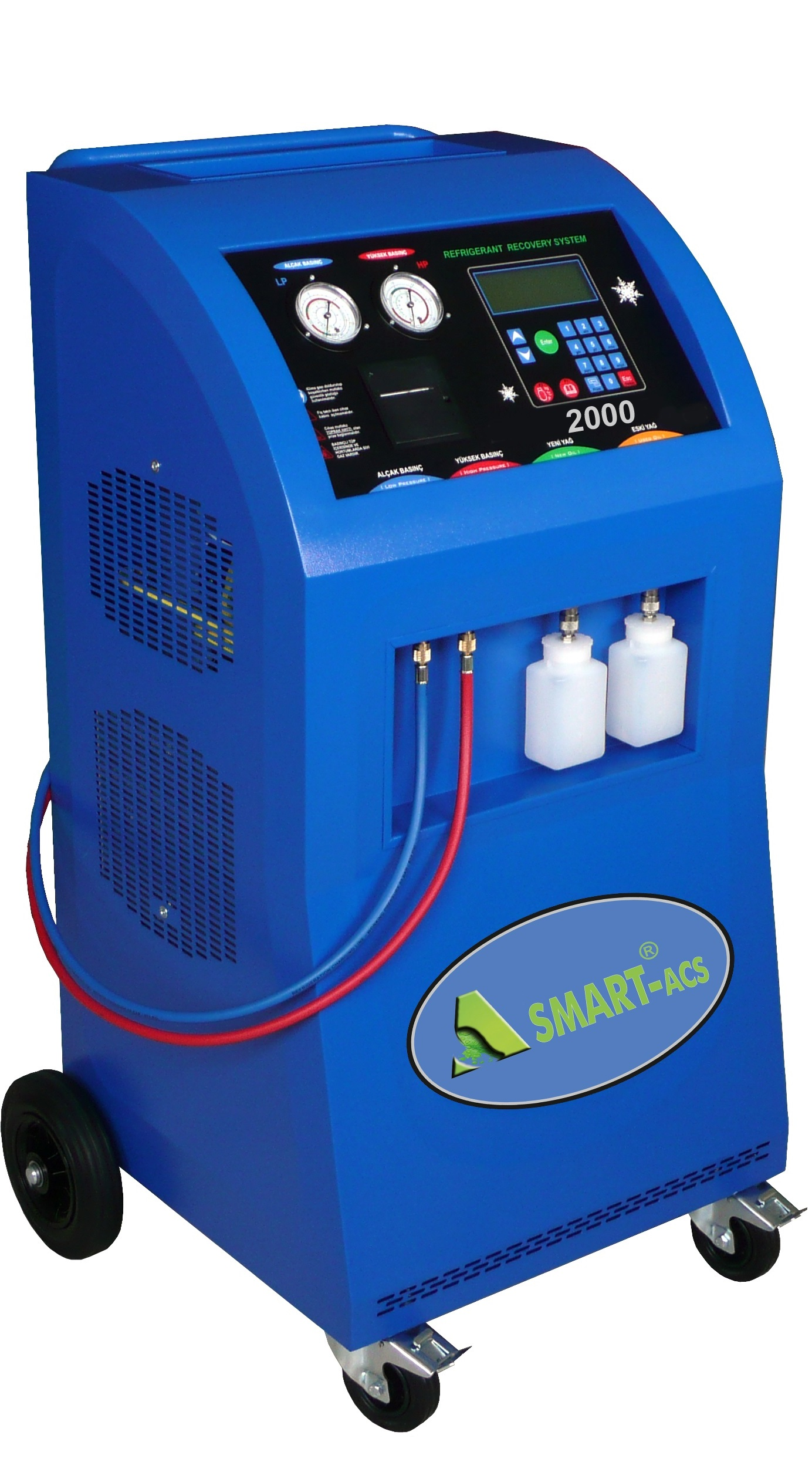 air conditioning machine for cars. automotive air conditioning refrigerant recovery, recycling, and recharging machine for cars